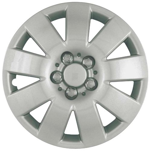 (CCI IWC410-15S 15 Inch Clip On Silver Finish Hubcaps - Pack of 4)