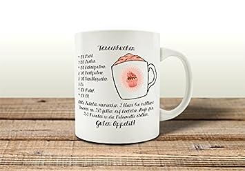 Tasse Kaffeebecher Tassenkuchen Backen Geschenk Rezept Spruch Motiv