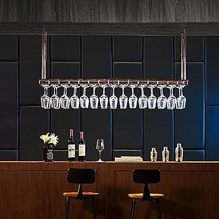 Soporte de Copa de Vino,Sostenedor del Vidrio de Vino,Soporte de Acero,Estante de Copas de Vino Debajo del Gabinete,Colgante Sostenedor del Vidrio de Vino,Bar Escritorio Bar Club Cocina