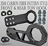 xv crosstrek tow hook - ICBEAMER Racing Style Universal Anodized CNC Aluminum Tow Hook Kit Including Front Rear Tow Hook [Color: Black]