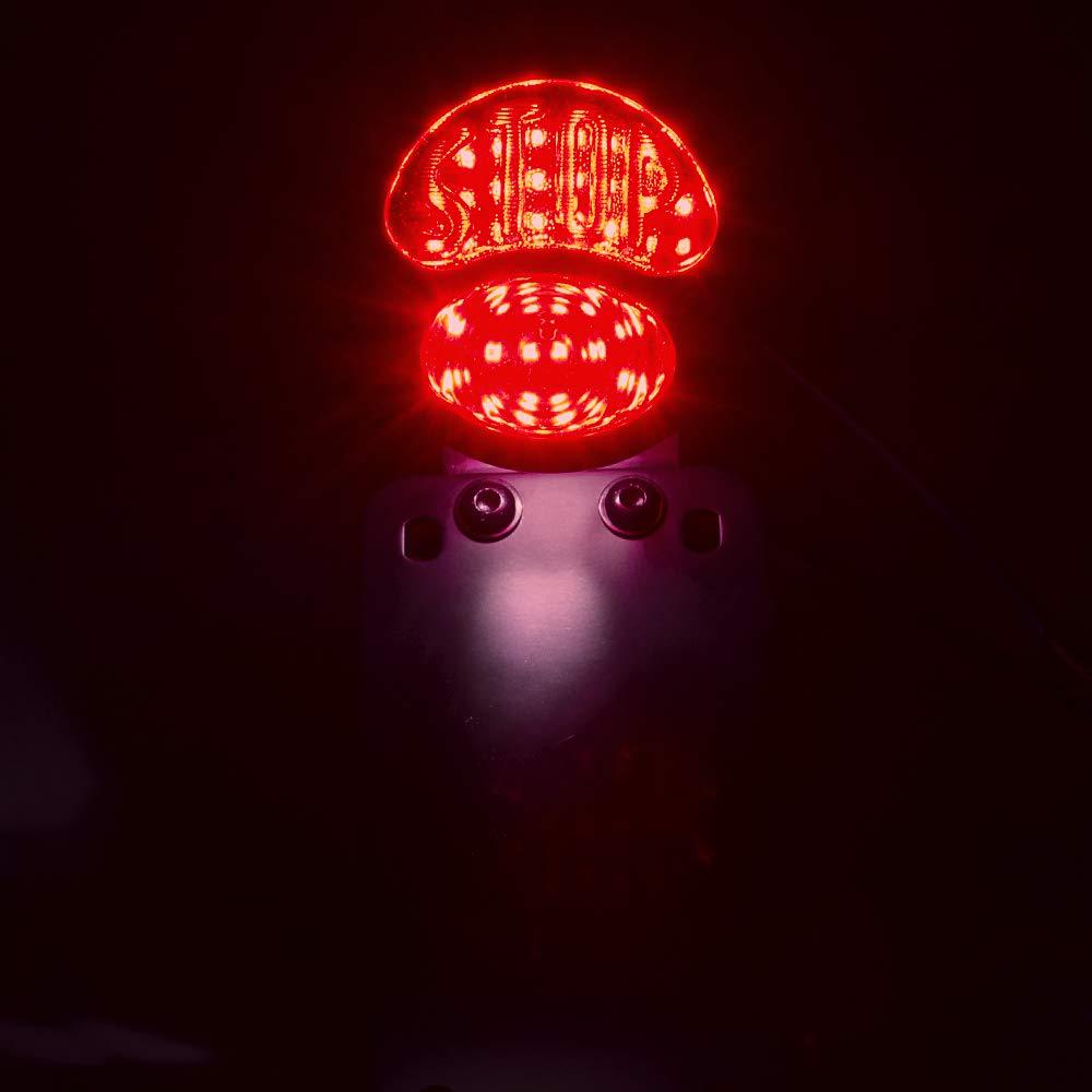 LED License Plate Brake Light Taillight Curved Bracket for Harley Sporster Bobber Choppers