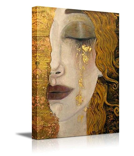 Gustav Klimt Reproductions (Freya's Tears by Gustav Klimt - Canvas Print Wall Art Famous Painting Reproduction - 36