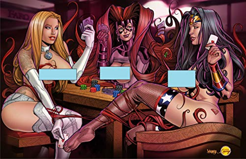 Superhero Strip Poker - Round 2 - Emma Frost, Wonder Woman, Madusa