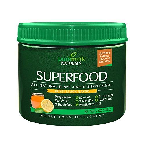 Puremark Superfood Powder, Honey Lemon, 7 Ounce For Sale