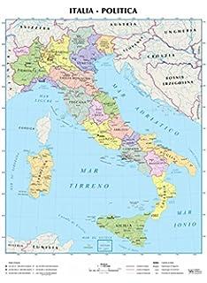 Cartina Fisica Italia Leggibile.Amazon It Italia Fisica E Politica Aa Vv Libri