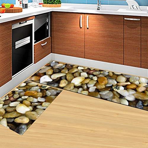 (Kitchen Mat Anti-Slip Rectangle Floor Mat Home Entrance Hallway Doormat 3D Area Carpet Rugs for Living Room)
