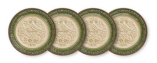 dessert plates w/stand celt -