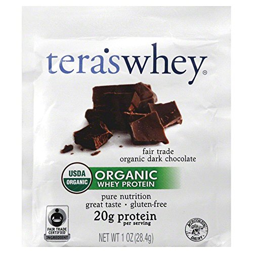 tera's: Organic Whey Protein, Fair Trade Certified Dark Chocolate Cocoa, 1 oz (Pack of 12)
