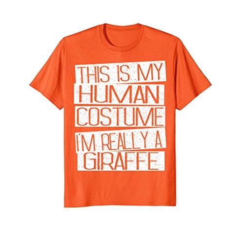 Mens Giraffe Halloween Costume Shirt - Funny Halloween Kids Gift Medium -