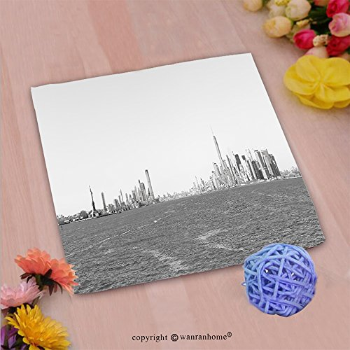 VROSELV Custom Cotton Microfiber Ultra Soft Hand Towel-panoramic view of new york city taken from the ferry to staten island Custom pattern of household - Boutiques Staten Island