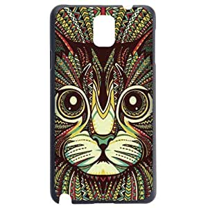 Fashion Personality Vintage Pattern Aztec Animal Cat Hard Back Plastic Case Cover Skin Protector For Samsung Galaxy Note3 by Alexism