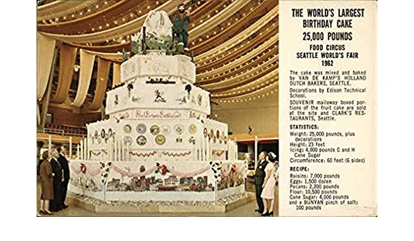 Cool The Worlds Largest Birthday Cake Seattle Washington Wa Original Birthday Cards Printable Opercafe Filternl