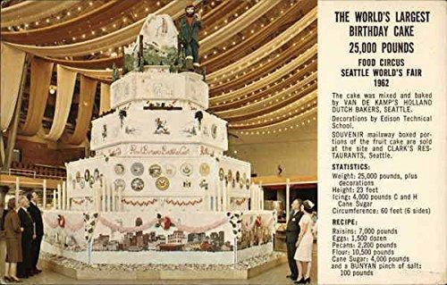 Amazon The Worlds Largest Birthday Cake Seattle Washington
