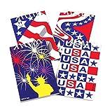 US Toy - Patriotic American Flag Design Mini Notebook Memo Pads (12 Pack)