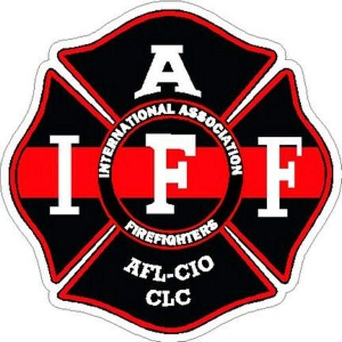 ION Graphics 4 Inch IAFF Thin Red Line Black Maltese Cross Firefighter Sticker Size: 4x4 Inches