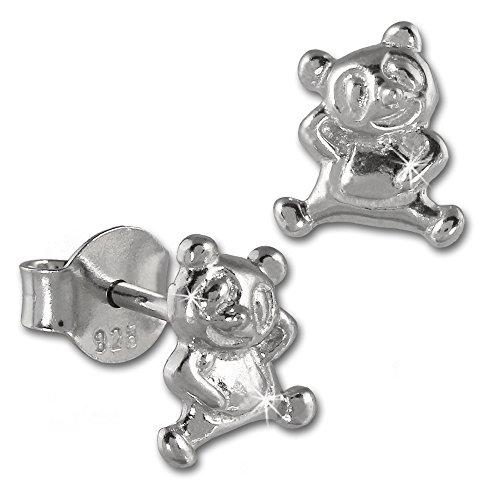 SilberDream boucles d'oreilles ourson en argent sterling 925 pour enfant sDO404 boucles d'oreilles