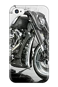 New Premium Flip Case Cover Motorcycle Skin Case For Iphone 4/4s