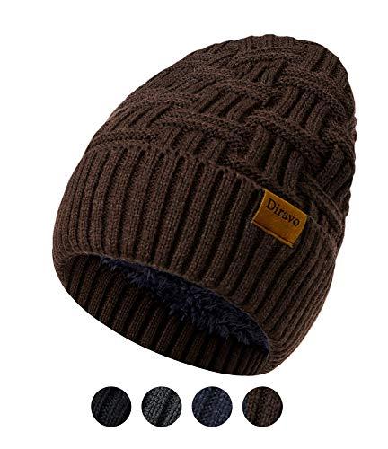 3f320355d2b0 Beanie for Men Women Winter Warm Thick Fleece Lined Knit Baggy Slouchy  Beanie Hats