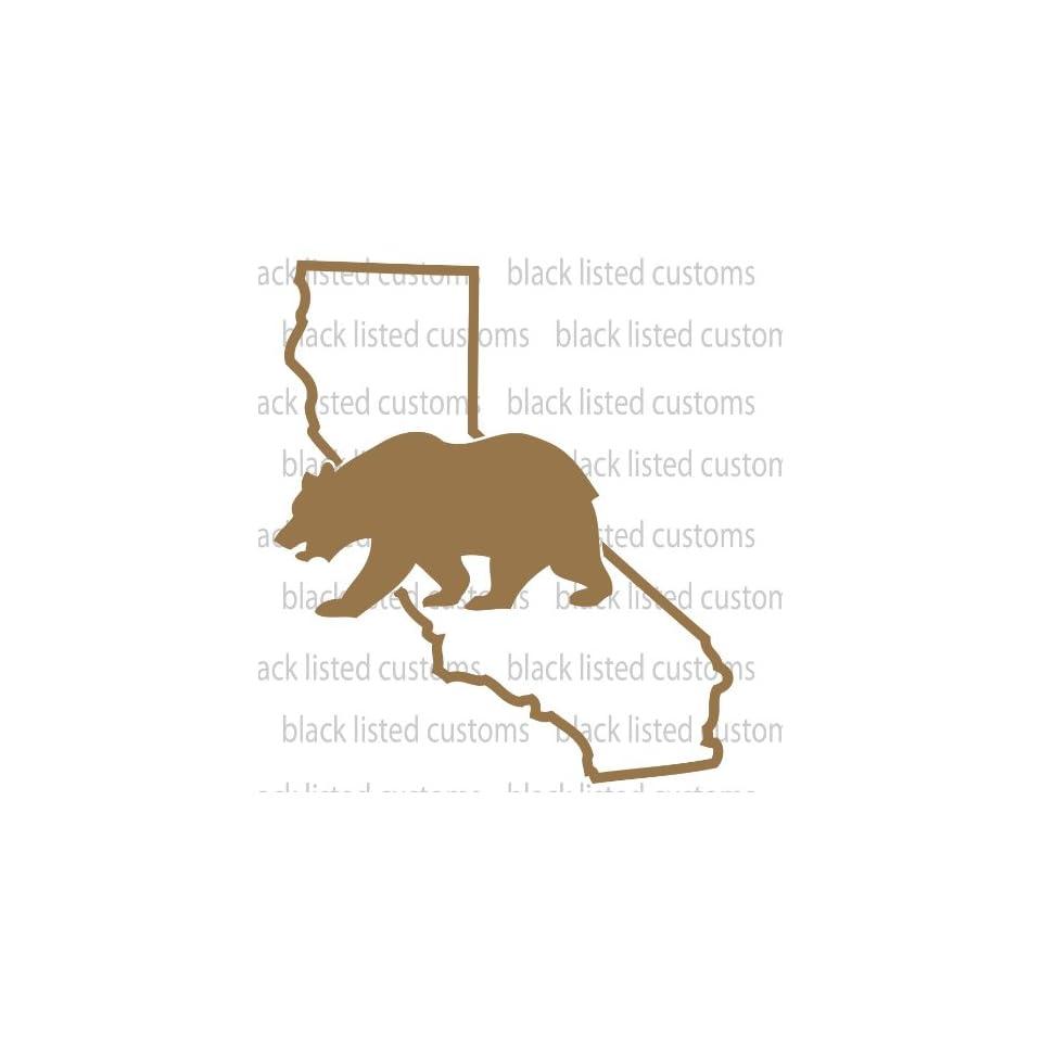 California State Bear COPPER Vinyl Decal Sticker CUSTOM