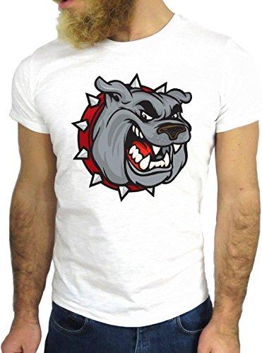 T-SHIRT JODE GGG24 HZ0573 DOG COOL VINTAGE ROCK FUNNY FASHION CARTOON NICE AMERICA BIANCA - WHITE L