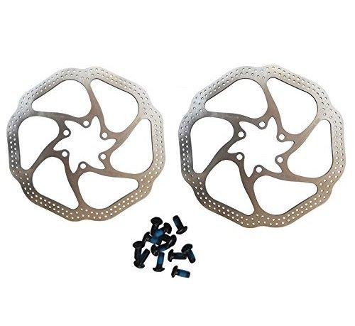 - BlueSunshine Cycling Bicycle Bike Brake Disc Stainless Steel Rotors 160mm HS1 With Bolts (2 PCS Bike Brake Rotors)