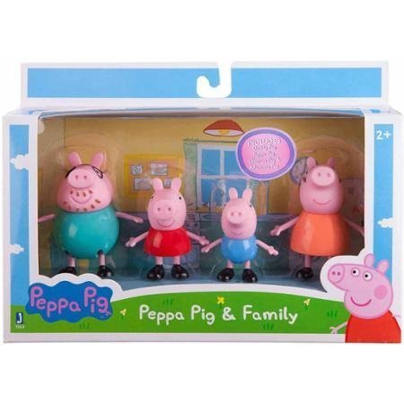 """Peppa Pig Family Pack, 3"""" Figures, 4-Pack is a Great Tool for Imaginative Play"""