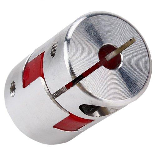 WEONE 5mm x 6.35 mm CNC Flexible Plum Coupling Shaft Coupler D20 L30 Aluminum Alloy