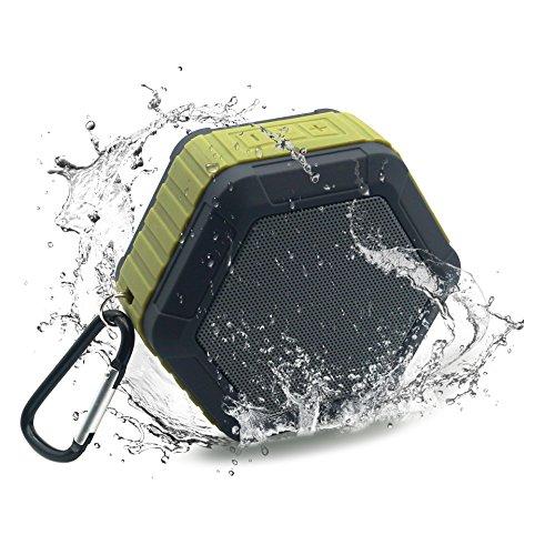 H-Partner IP65 waterproof Portable Outdoor Beach Shower Bluetooth 3W Speaker Buit-in Mic Hands-Free Speakerphone (Ip65 Shower)