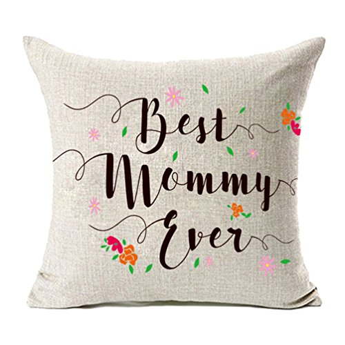 Best Mom Ever Pillow - MFGNEH Best Mommy Ever with Flowers