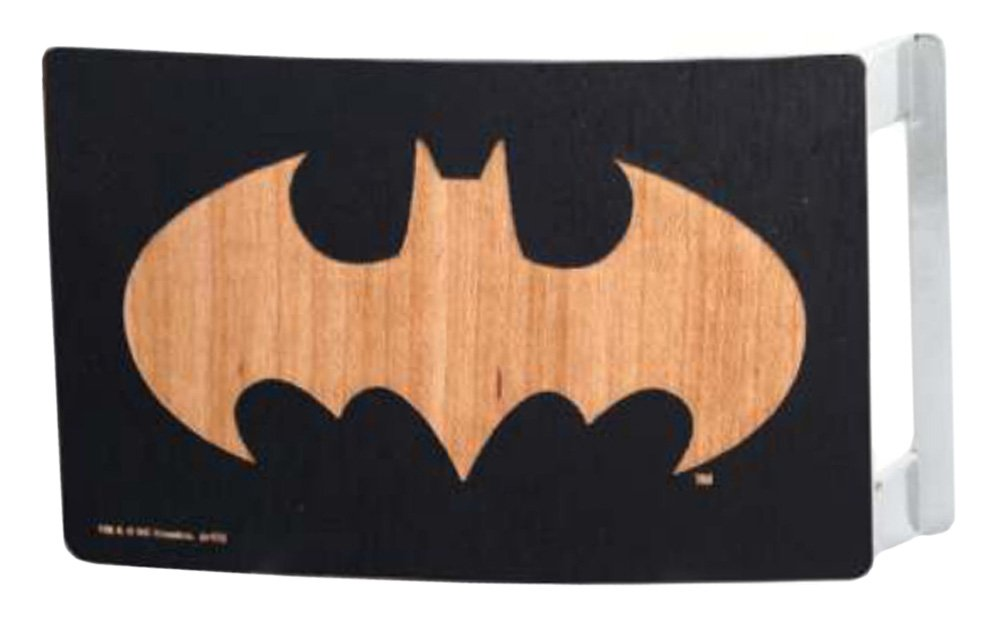 Batman DC Comics Superhero Wooden Bat Logo Rockstar Belt Buckle Buckle Down