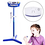 FenglinTech Kids Karaoke Machine with 2 Microphones and Adjustable Stand with Bluetooth for Singing - (Blue)