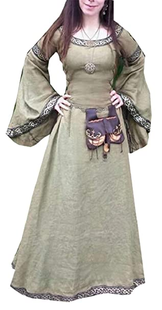 Amazon.com: Yayu Womens Renaissance Plus Size Medieval Dress ...