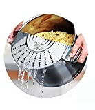 TB Make Life Easy Pot Top Strainer - Stainless Steel Sieve, Smart Design Colander Lid Prevents Hot Water Spills On User