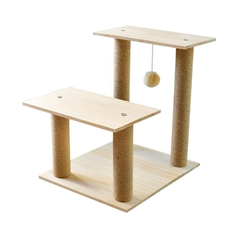 クライミングツリー二層猫クライミングフレーム純木猫クライミングスツール猫の巣かゆみコラム玩具猫ジャンプ台多層木製フレーム50 Cm * 40 Cm * 55 Cm   B07Q5SV4K6