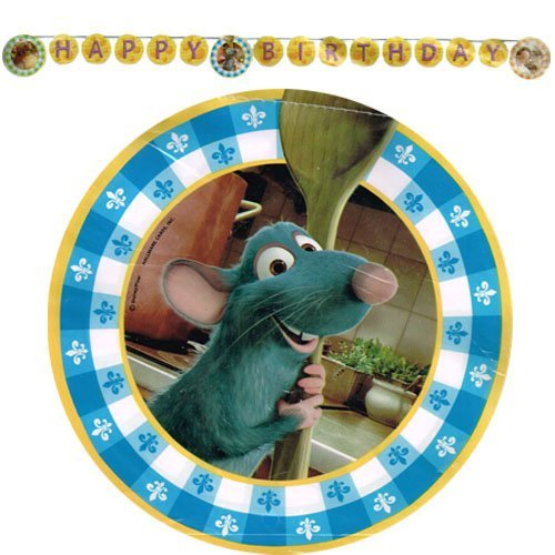 - Ratatouille birthday Banner by Party Express
