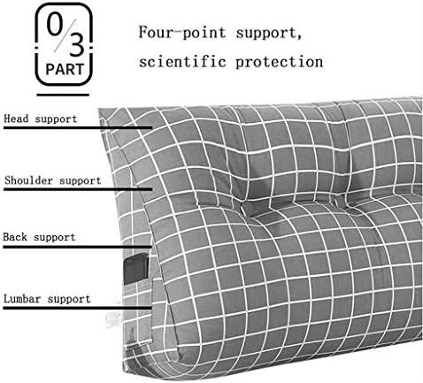 Coussin Triangular Wedge Tatami livre de chevet Triangle rembourré Flex Back Support du cou Oreiller Canapé-lit Coussin de repos Bureau (Color : P, Size : 90 * 20 * 50cm)