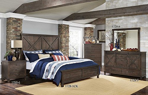 Homelegance Hill Creek Wood California King Panel Bed Frame, Brown