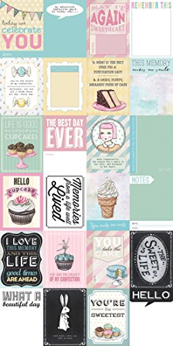 Melissa Frances GNJA006 The Sweet Life Journaling Card, 3-Inch x 4-Inch, 24-Pack