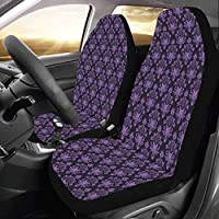 Artsadd Haunted Mansion Car Seat Covers (Set of 2) Best Automobile Seats Protector