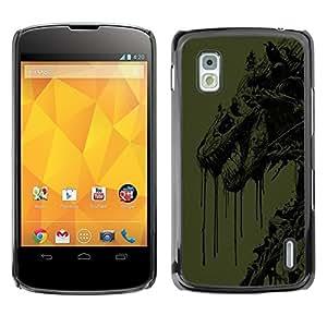 LECELL -- Funda protectora / Cubierta / Piel For LG Google Nexus 4 E960 -- Abstract Dragon --