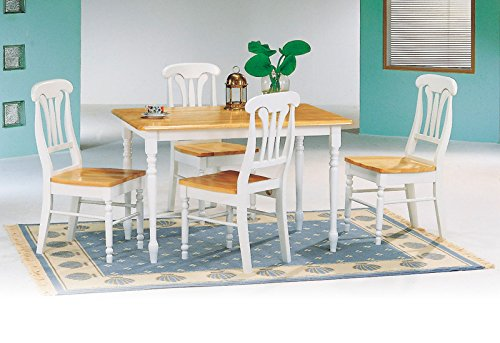 Coaster Casual Dining Room Set with Dining Table and 4 x Dining Chair