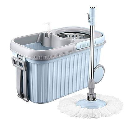 Fregona Cubo Fregona Giratoria Casa Fregadora Automática Lavado De Manos Fregado Exprimidor Remolque De Agua Fregona