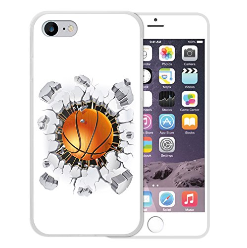 iPhone 8 Hülle, WoowCase Handyhülle Silikon für [ iPhone 8 ] Basketball Handytasche Handy Cover Case Schutzhülle Flexible TPU - Transparent