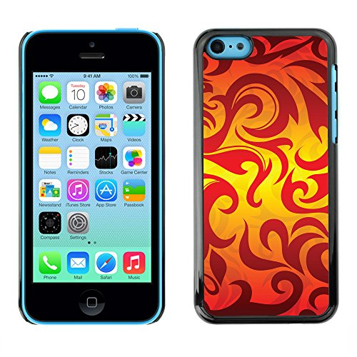 Premio Sottile Slim Cassa Custodia Case Cover Shell // V00002494 flammes seamless // Apple iPhone 5C