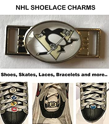 Pittsburgh Penguins NHL Shoelace Charms for Skates, Shoes, Bracelets etc.