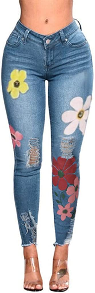 Women's Printed Jeans...