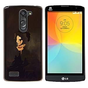 """Be-Star Único Patrón Plástico Duro Fundas Cover Cubre Hard Case Cover Para LG L Prime / L Prime Dual Chip D337 ( Pintura del arte del retrato de caras Reflexión"""" )"""