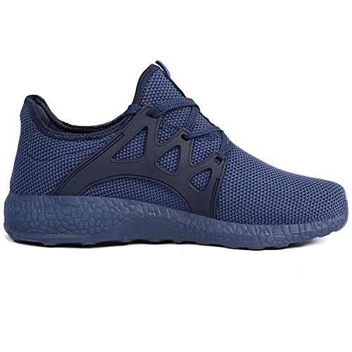 Price comparison product image Feetmat Men's Sneakers Lightweight Breathable Mesh Gym Casual Shoes (12 D(M) US,  Blue)