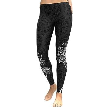 WYLYJTZ Pantalones De Yoga Yoga Leggings Mujeres Floral ...