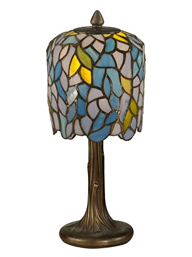 Dale Tiffany TA11200 Wisteria Tiffany Mini Lamp, 6 x 6 x 13 , Antique Bronze